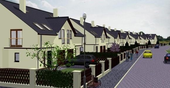 Osiedle domów w zabudowie bliźniaczej w katowicach Zarzeczu